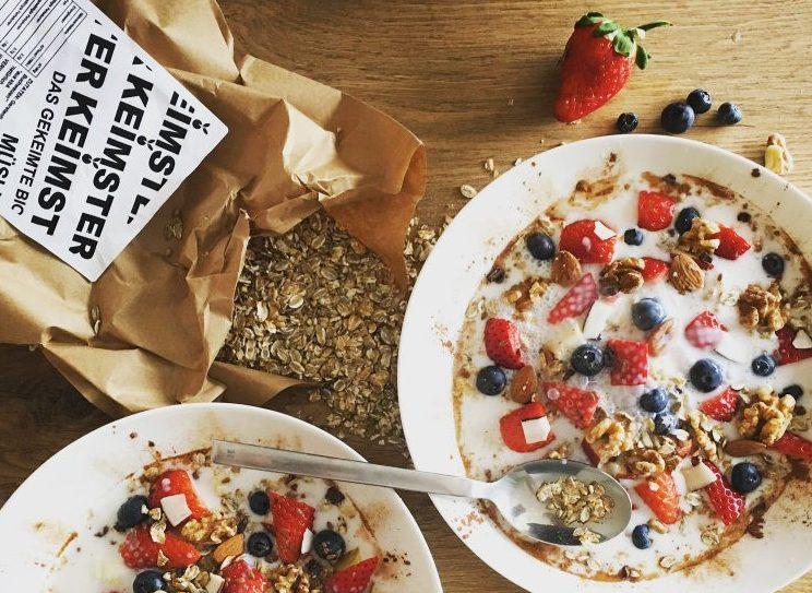Haferflocken Alternative gekeimtes müsli keimser frühstück