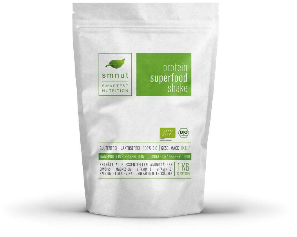 smnut Protein Superfood Shake Natur