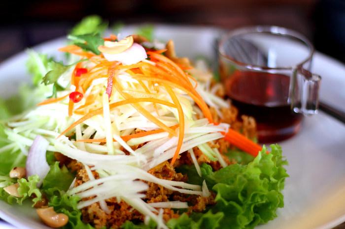 Vegan auf Reisen Papaya-Salat