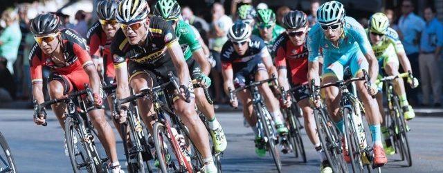 Triathlon und Ironman Radfahrer