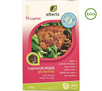 Alberts LUPINEN-BURGER glutenfrei, BIO, 200g