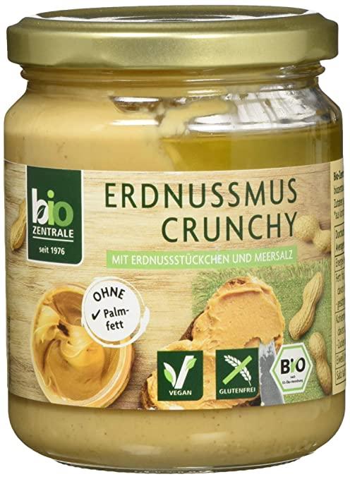 biozentrale Erdnussmus Crunchy, (750g)