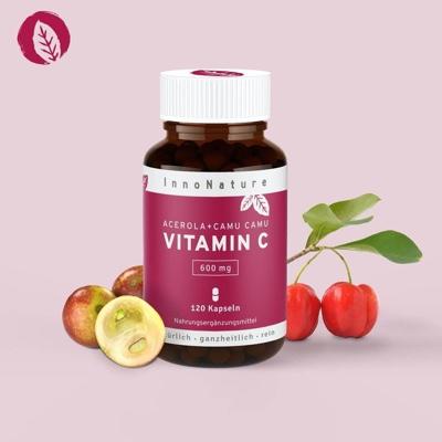 Acerola + Camu Camu: Hochdosierte natürliche Vitamin C Kapseln
